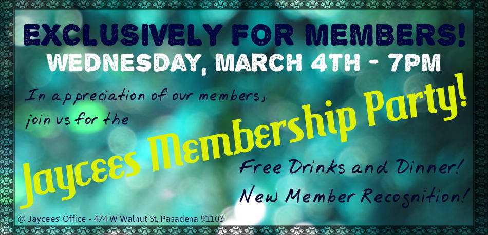 March Membership Party