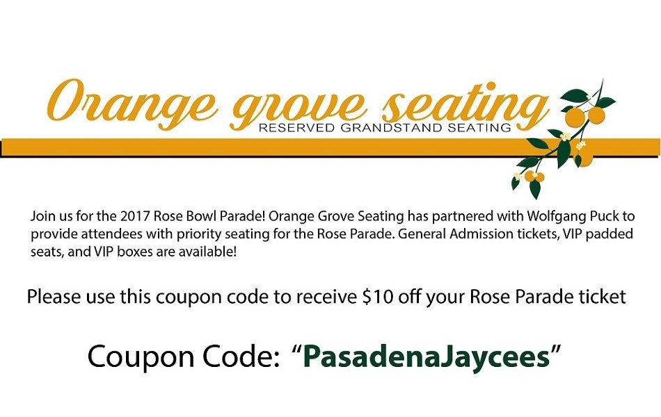 2016 Rose Parade Tickets